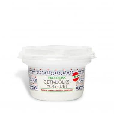 Produktbild på ekologisk getmjölksyoghurt i 150g förpackning.