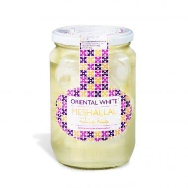 Produktbild på Oriental white Meshallale i glasburk.