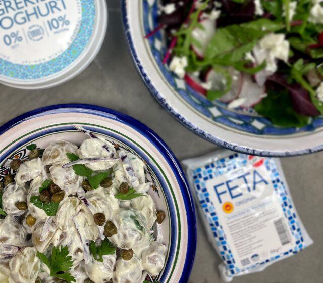 Krämig potatissallad med grekisk yoghurt