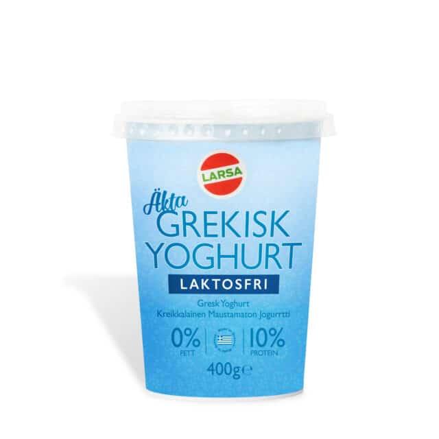 Äkta grekisk laktosfri yoghurt, 0% fett